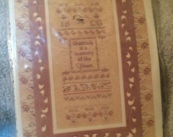 Gratitude Sampler Cross Stitch Pattern by Charland Designs 1999