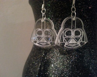 Star Wars Darth Vader Earrings, Geek, Nerd, Great Gift - Laser Cut - Made in UK
