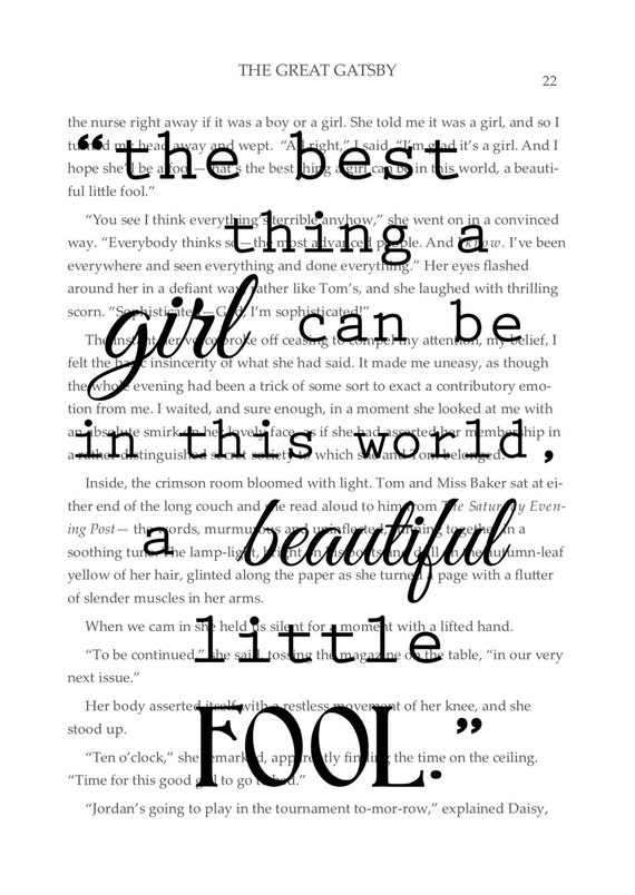 the great gatsby beautiful fool Why should you care about what daisy buchanan says in f scott fitzgerald's the great gatsby don't worry, we're here to tell you.
