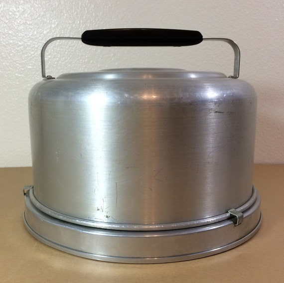 Vintage Mirro Aluminum Cake Carrier With Lock And Handle