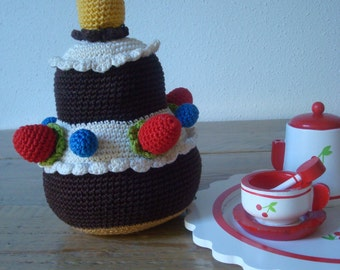 Very Tasty Birthday Cake - crochet toy