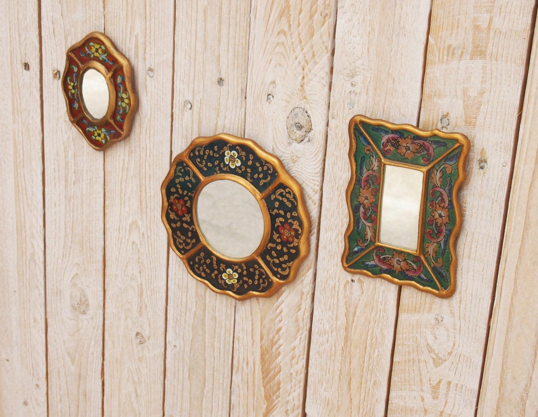 Juego de espejos free soul espejos vintage a os 60 pintado a for Espejos vintage