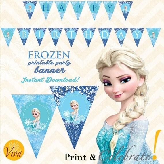 Frozen Birthday Printable BANNER / GARLAND By