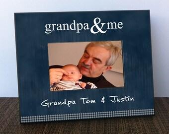 Grandpa Gift - Personalized Grandpa Picture Frame, Grandparent Gift