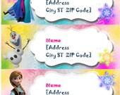 Disney Frozen Summer Printable Address Label
