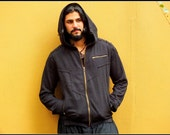 Moonrider Jacket (Black) - Men Jacket Warm Winter Comfortable Hippie Bohemian Gypsy Style