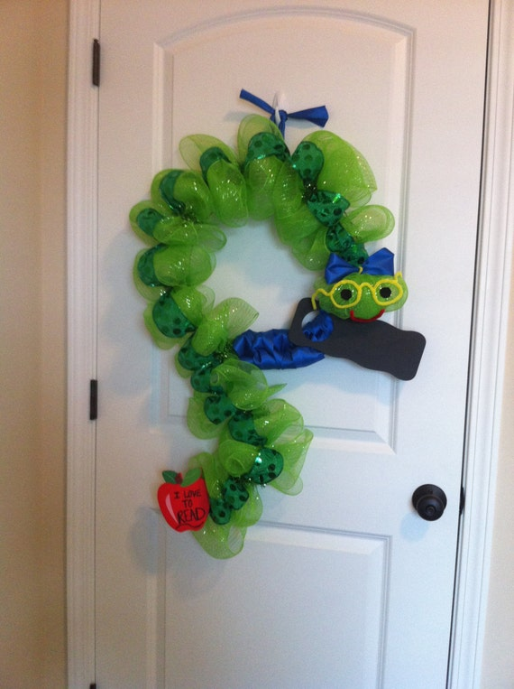 Items Similar To Book Worm Wreath On Etsy