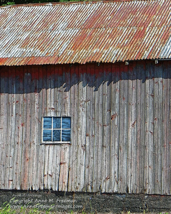 Barn With Rusty Tin Roof Old Barn Rustic By Annefreemanimages