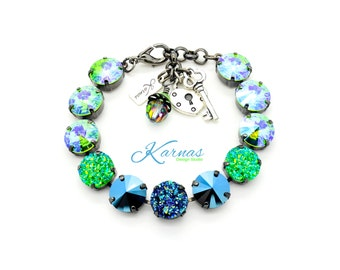 DRAMATIC DRUZY 12MM Crystal Rivoli Bracelet Made With Swarovski Elements *Pick Your Metal *Karnas Design Studio *Free Shipping*