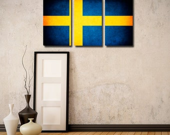 The Original Sweden Flag Triptych