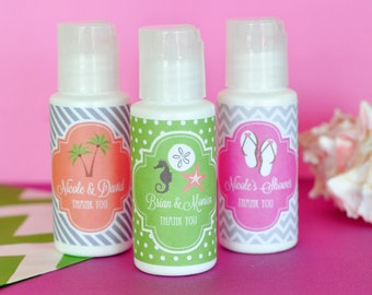 beach bridal shower favors beach theme bridal shower favors sunscreen favor for beach