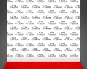 Wedding Photo Booth Backdrop - Red Carpet Wedding Backdrop - Step And Repeat  Event Background