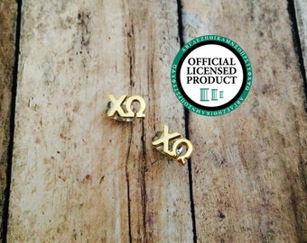 Chi Omega Letter Stud Earrings | Sorority Earrings | Chi Omega Earrings | Chi O Earrings | Sorority Jewelry | Chi Omega Jewelry