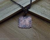 OAAK 4 leaf necklace true plant imprint