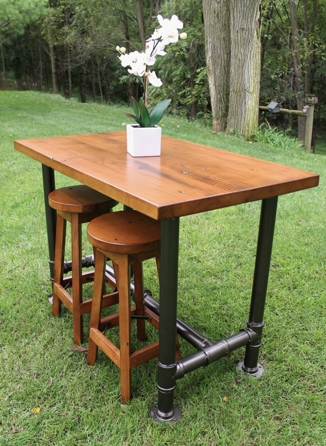 Industrial Farmhouse Table Kitchen Island Oil Rubbed Bronze