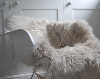 Beautiful soft grey sheepskin rug