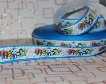 "7/8"" Cartoon Grosgrain ribbon for sewing/DIY/hair bows"