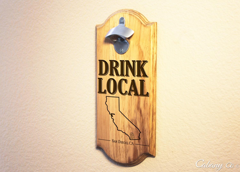 Personalized wall mount beer opener bottle opener man by cabanyco - Personalized wall mount bottle opener ...