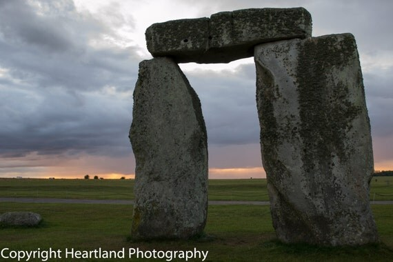 Large Stonehenge, Landscape Print, UK Photography, Sunset Photo, British Art, Unique Prints, Colorful Wall Art, Fine Art Photography, Clouds