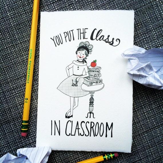 Mrs. McClassy Teacher Appreciation Card