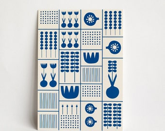card 'garden' - large, A5