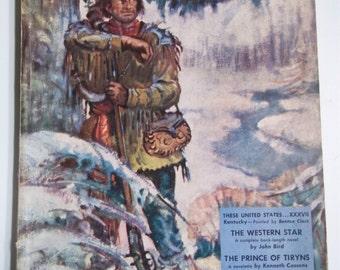 Blue Book Vol. 90 No. 4 February 1950 Adventure and History Pulp Magazine