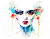 Watercolour Print 200gsm Paper - Original Watercolour Abstract Portrait Painting Hand Signed by Ella Smethurst