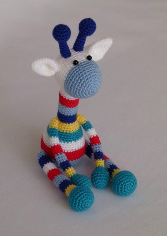 Bunte giraffe amigurumi häkeln spielzeug von joytoysbytatiana