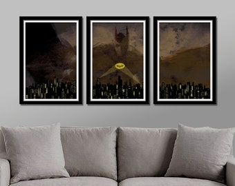Dark Knight Minimalist Movie Poster - Darkness Rises - 13 X 19 Home Decor