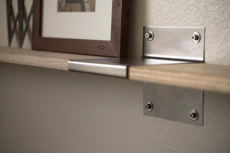 modern industrial steel shelf brackets pair steel wall