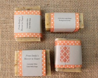 20 Personalized Soap Favors (2 oz. Each) — Custom Scent and Custom Labels!