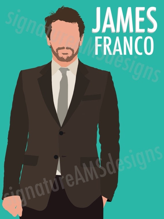 Minimalist Digital Artwork of ACTOR / CELEBRITY - James Franco. ( 11.7x16.5 inches / A3 )