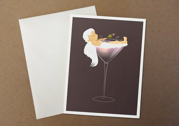 Cupid takes a martini bath
