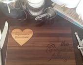 Personalized Seasoned with Love Cutting Board Custom Cutting Board
