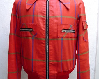 vtg Rockabilly checkered 60s style summer jacket. Discounted fm 69,- euro