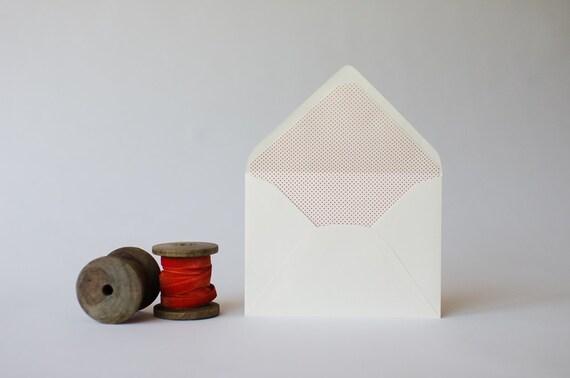 mini polka dot / pindot lined envelopes (25 color options) - sets of 10