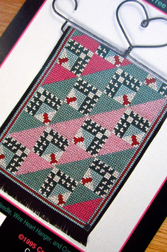 Pine Tree Amish Quilt Counted Cross Stitch Pattern Chart by