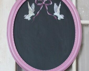 Framed Chalkboard, Kitchen Chalkboard, Chalkboard Menu, Chalkboard with Doves, Wedding Gift, Mother's Day Gift