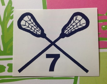 Lacrosse Stick Decal