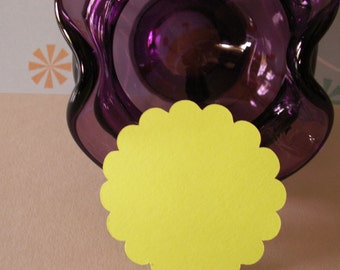 25 2 1/2 inch scallop circle die cuts for cards, gifts, wedding favors, merchandise, scrapbooking etc.