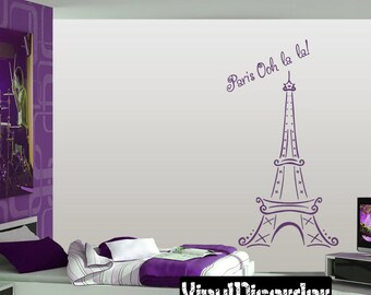 Paris Eiffel Tower Decal - Car Decals - Custom Decals - paeitooohlalET