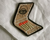Hand Embroidered Matchbook Patch/Brooch