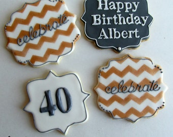Happy Birthday Decorated cookies! Customized to fit your party or event!