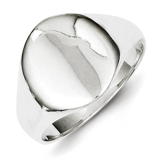 sterling silver signet oval ring engraved personalized