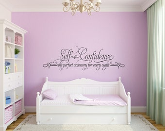 Captivating Self Confidence Wall Decal Girl Bedroom Wall Decal Teen Girl Room Decal The  Perfect Accessory Dressing Part 17