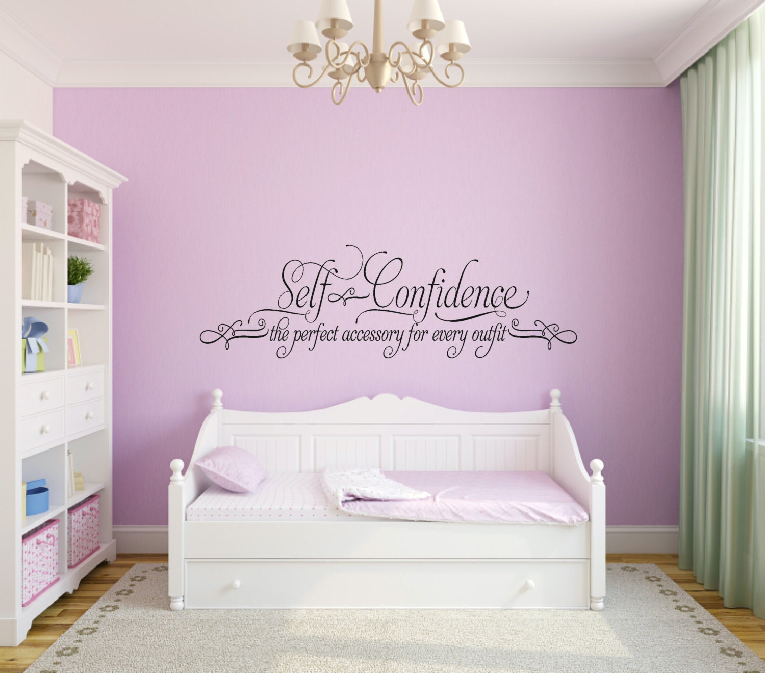 Self confidence wall decal girl bedroom wall decal teen girl description this is a great inspirational wall decal amipublicfo Gallery