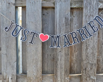Just Married Banner, Just Married Sign, Just Married prop, Wedding Banner, Wedding Sign, Marriage banner
