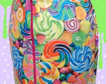Acid Pop Sweet Vinyl pvc CANDY CANDY CANDY mini skirt