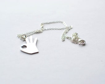 OK! necklace. Sterling silver chain
