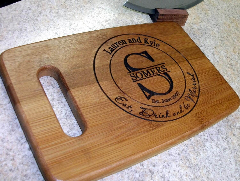Wedding Gift Cutting Board: Custom Cutting Board Personalized Wedding Gift Cutting Board